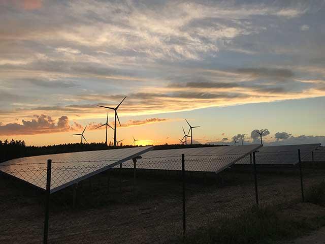 Anbindung einer Photovoltaikanlage an den Windpark Berg Espich